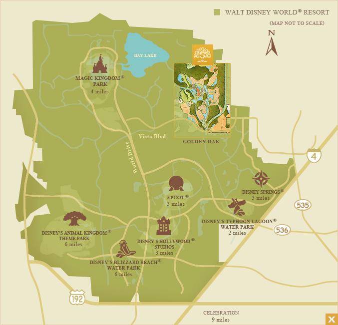 Golden Oak neighborhood map