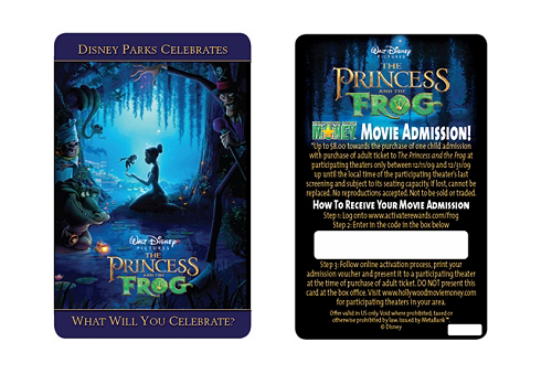 Princess & the Frog Ticket