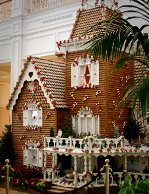 Giant Gingerbread House at Disney's Grand Floridian