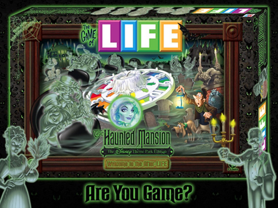 The Game of LIFE - Haunted Mansion 'Welcome to the After-LIFE' Disney Theme Park Edition
