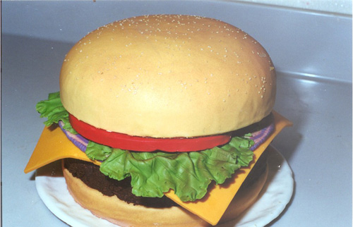 Disney Weddings Burger Cake