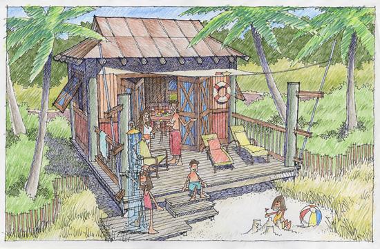 New Private Rental Cabanas