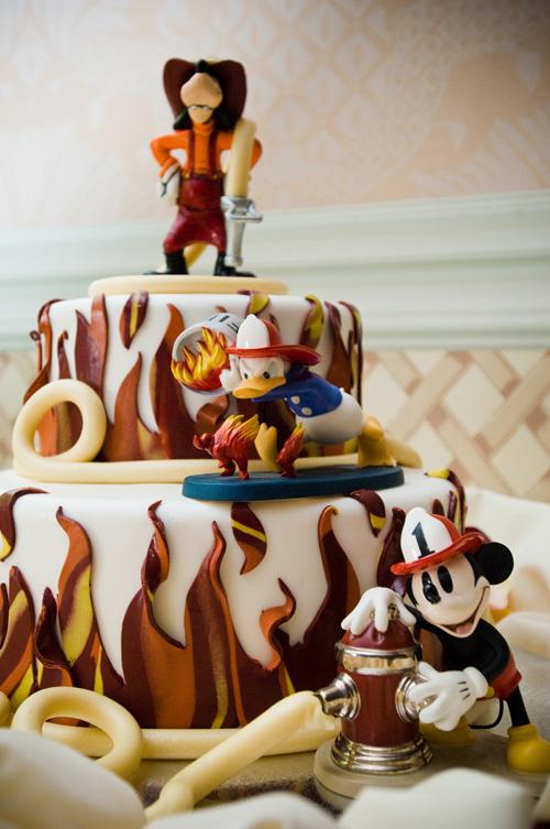 Disney Weddings Fireman Cake
