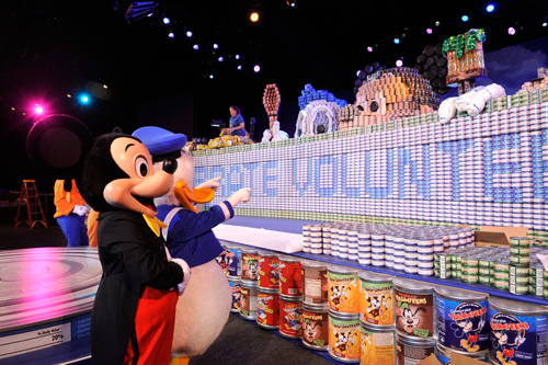 Record-Breaking Canned Food Sculpture at Walt Disney World
