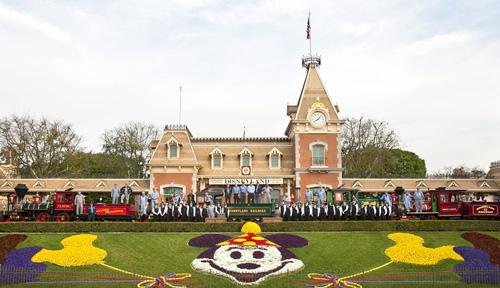 Four Steam Locomotives at Disneyland Park