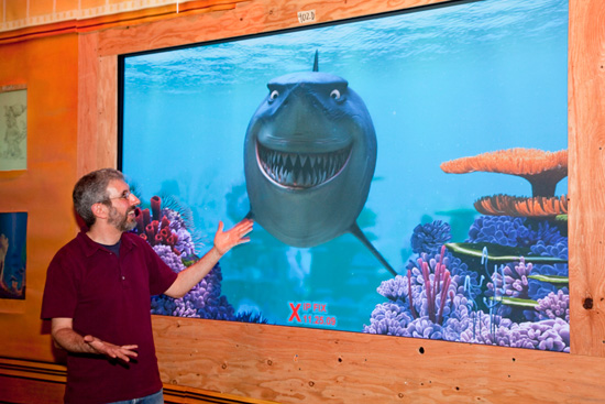 Bruce the Shark with Walt Disney Imagineer