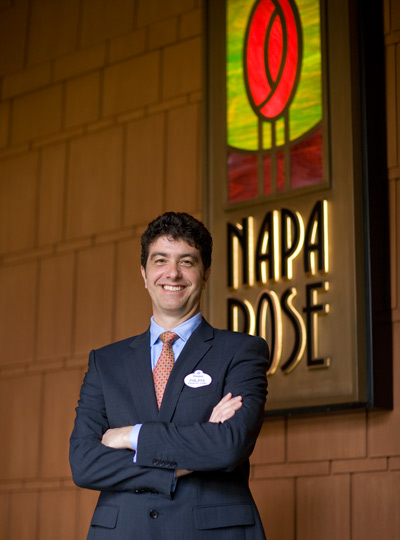 Philippe Tosques, general manager of Napa Rose Restaurant