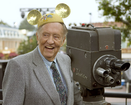Art Linkletter at Disneyland Park in 2005