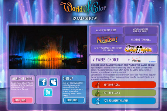 'World of Color' Road Show