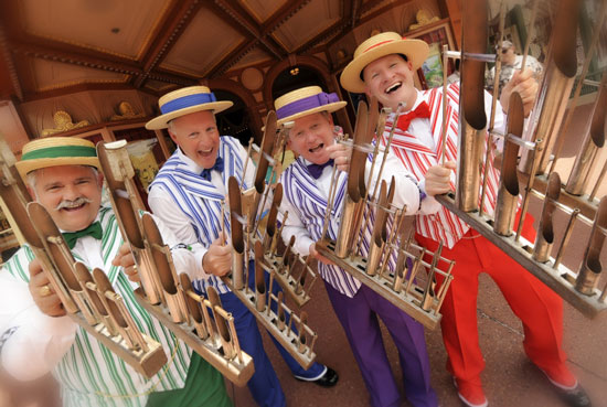 The Dapper Dans on Main Street, U.S.A.