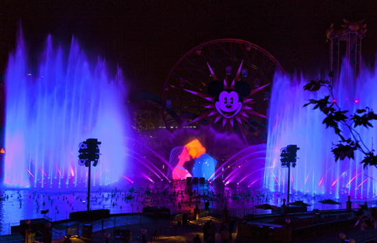 World of Color show at Disneyland