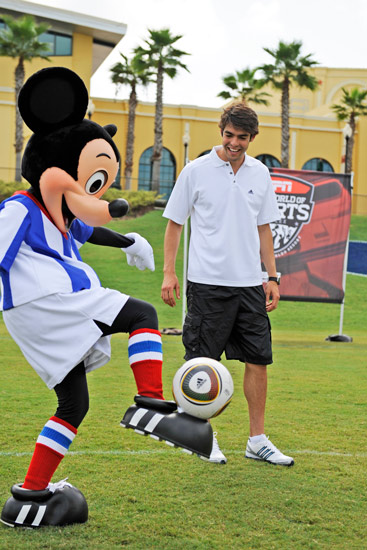 Brazilian Soccer Star Kaka and Mickey