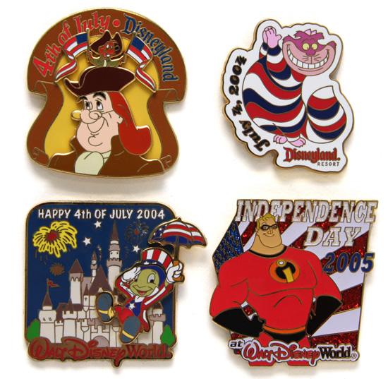 Fourth of July Disney Pins