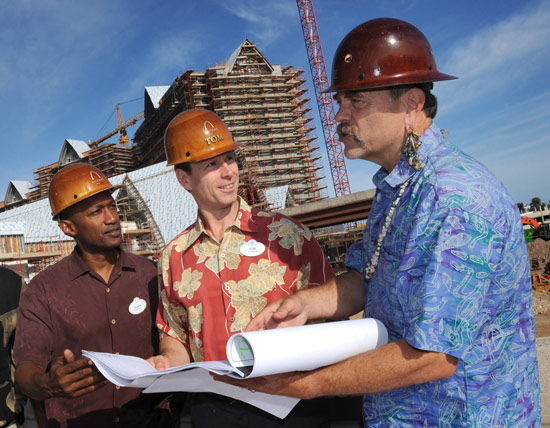 Walt Disney Parks and Resorts Chairman Tom Staggs at Aulani Construction Site
