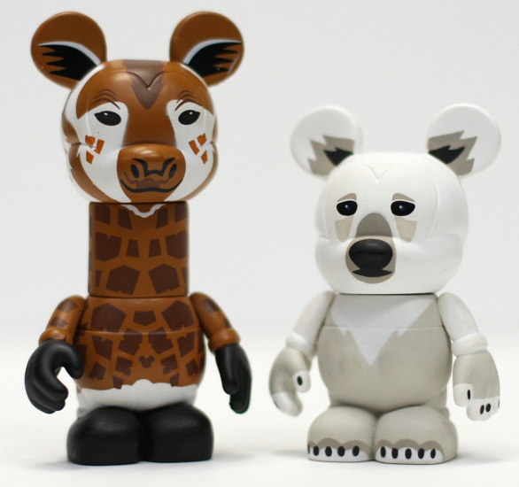 Giraffe and Polar Bear