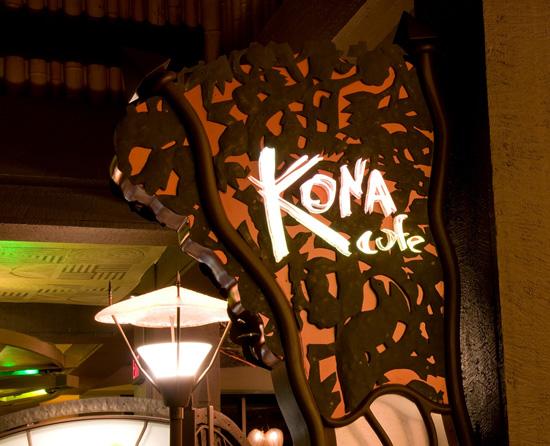 Kona Café sign