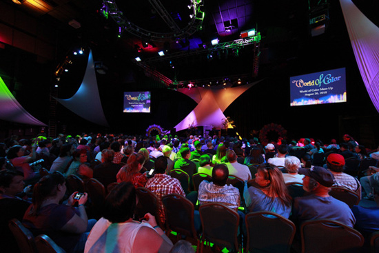 Inside the 'World of Color' Meet-Up room