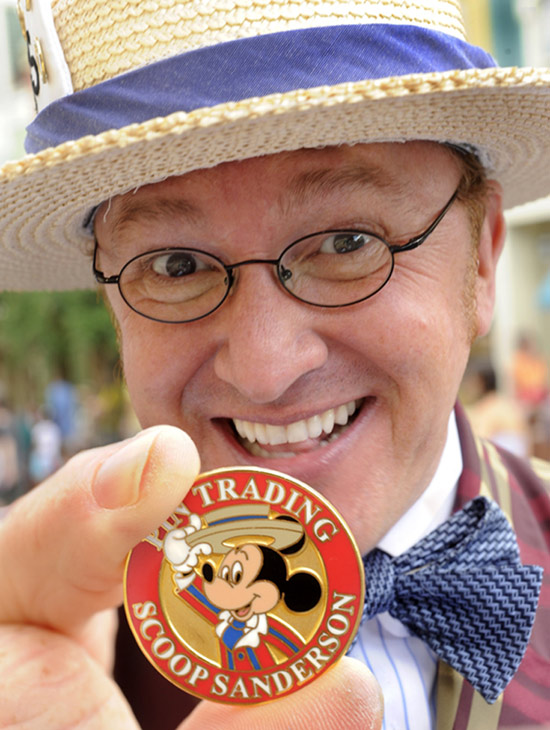 Scoop Sanderson, Main Street Gazette Reporter, Town Councilman and Pin-thusiast