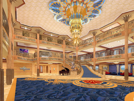 Artist Rendering of the Disney Dream Grand Staircase