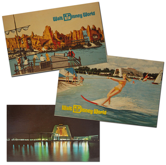 Vintage Walt Disney World Postcards