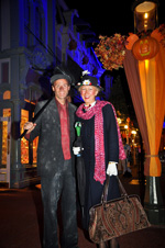 Guests in Halloween Costumes at Magic Kingdom Park
