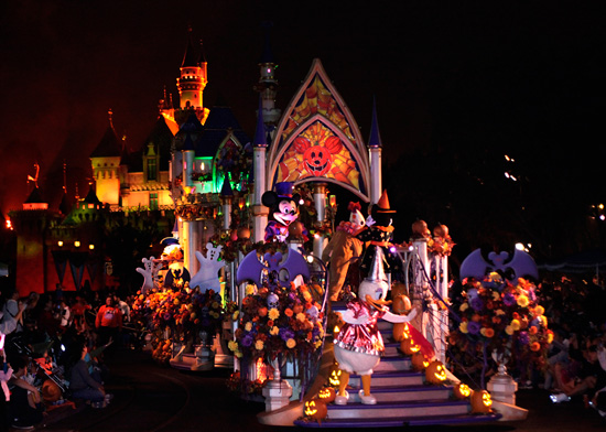 Haunted Castle Float at Mickey's Costume Party