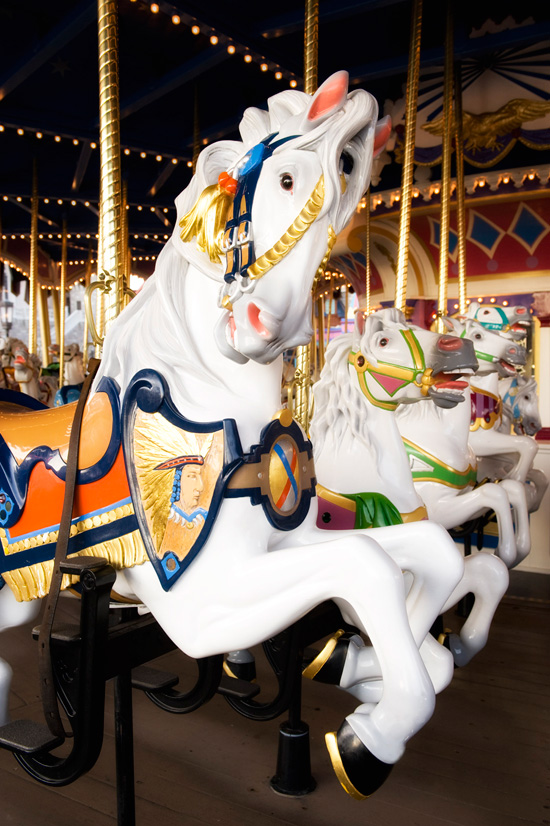 Prince Charming Regal Carrousel at Magic Kingdom Park