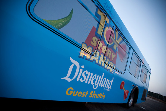 Toy Story Lot Guest Shuttle at Disneyland Resort