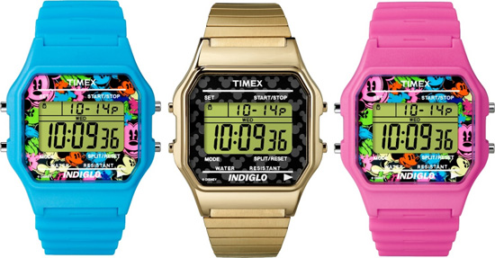 Timex Classic Digital Watches of the 'Timex for Disney' Collection