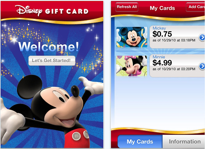 New Disney Gift Card App Now Available | Disney Parks Blog