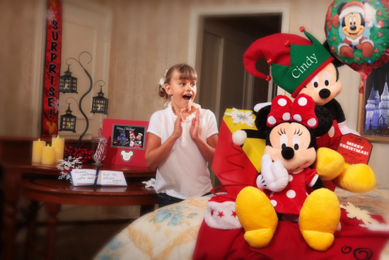 Dreaming of a Disney Christmas' In-Room Celebration Package from Disney Floral & Gifts