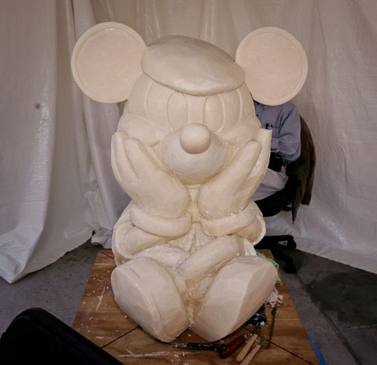 250 Pound Mickey Mouse Soap Sculpture