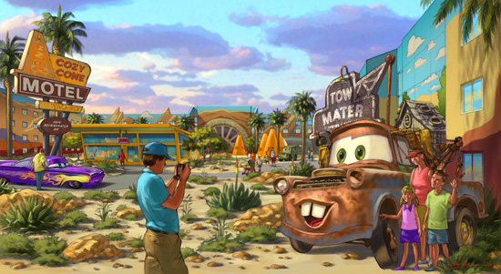 Artist Rendering of the 'Cars' Area at Disney's Art of Animation Resort