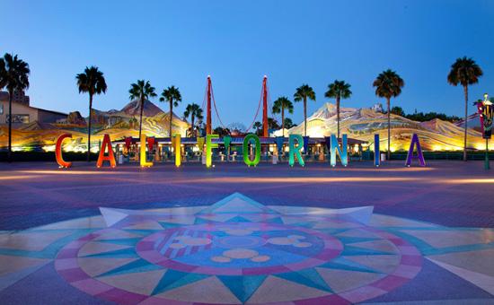The 'CALIFORNIA' Letters at Disney California Adventure Park