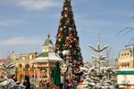 Snow at Disneyland Paris