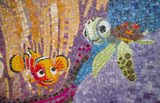 Tile Mosaic Aboard the Disney Dream Inspired by 'Finding Nemo'