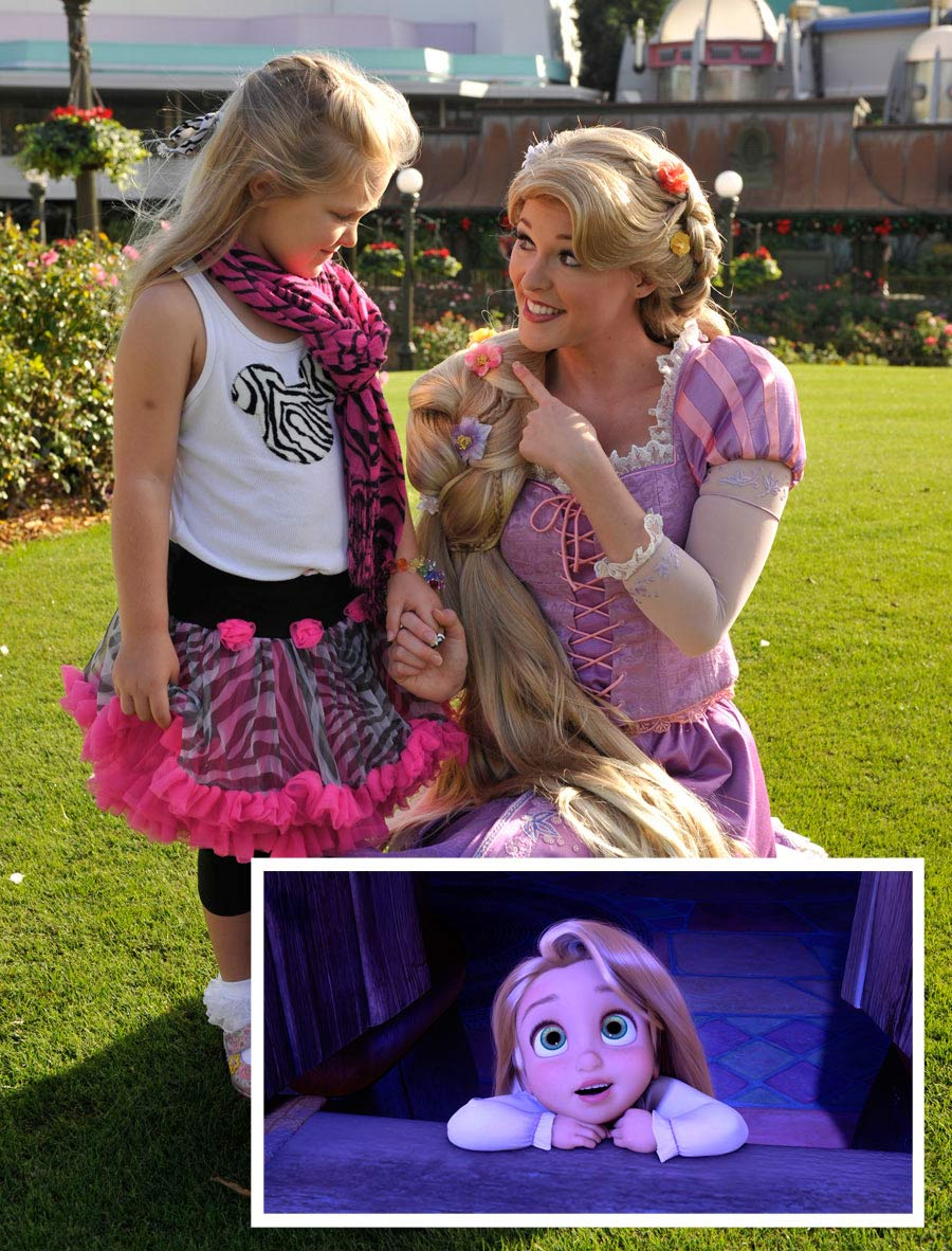young voice in tangled meets rapunzel in the best day ever