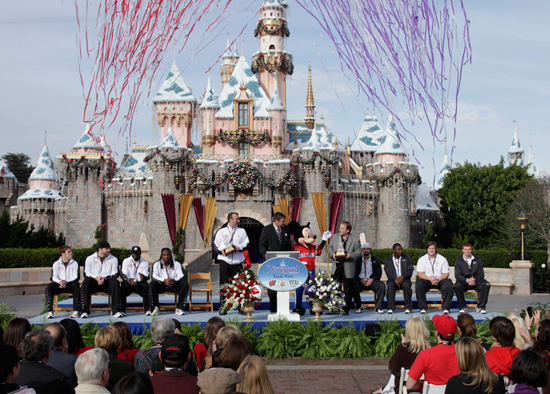 The 2011 Rose Bowl Teams are Hosted at Disneyland Resort