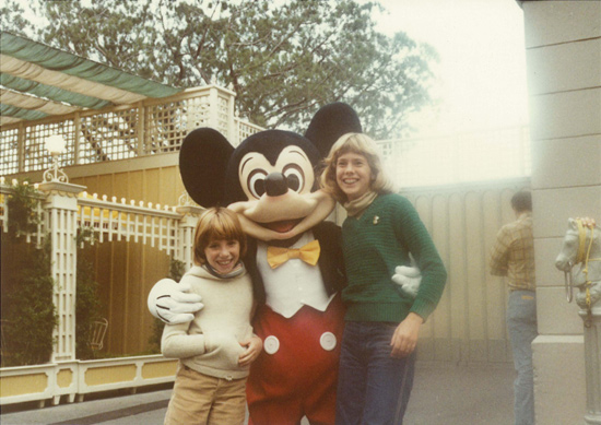 Shana and Erin Manning with Mickey