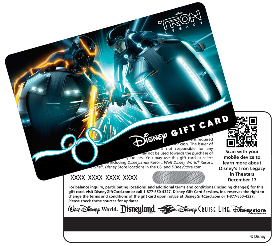 Disney Gift Cards Unveils TRON-Inspired Technology | Disney Parks Blog