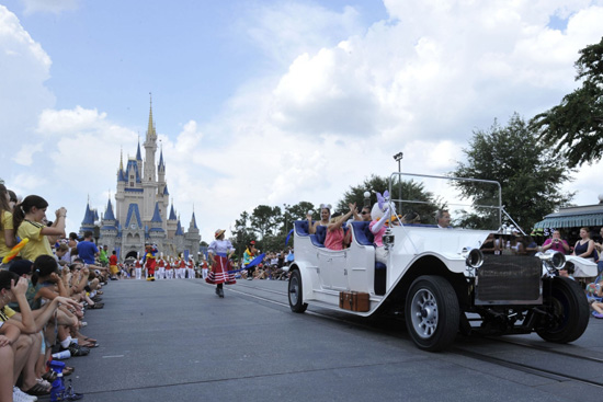Grand Marshals at the Celebrate A Dream Come True Parade at Magic Kingdom Park