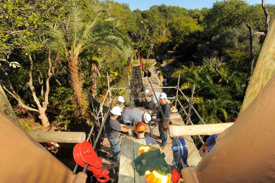 The Rope Bridge at Wild Africa Trek Experience at Disney's Animal Kingdom