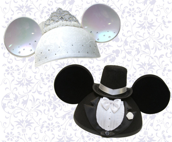 Bride and Groom Disney Ear Hats