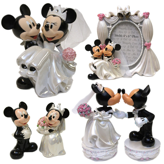 Mickey and Minnie Wedding Figurines