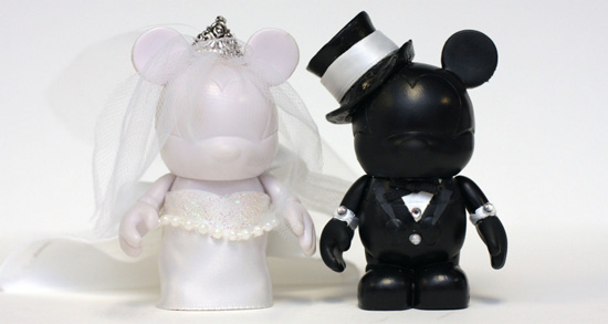 Disney Bride and Groom Vinylmation Figures