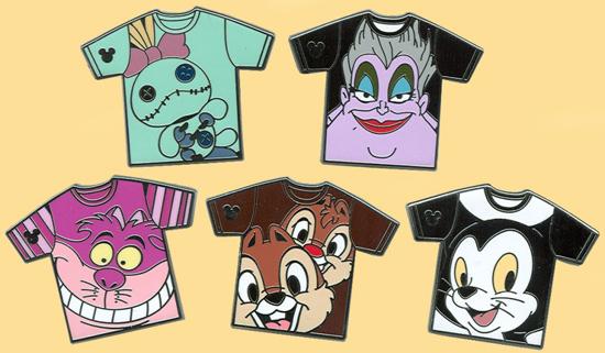 New Tee-Shirt Hidden Mickey Pins