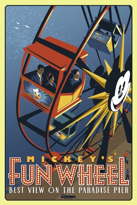 Mickey's Fun Wheel Attraction Poster
