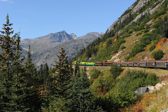 Disney Cruise Line guests can take a unique railroad ride to the White Summit Pass.