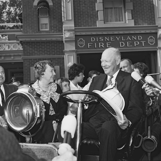 Former President and Mrs. Dwight D. Eisenhower at Disneyland Park in 1961