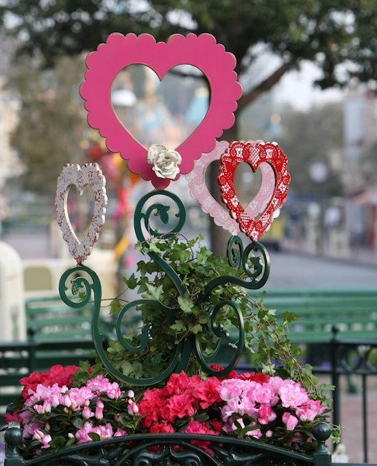 Floral Displays of Valentine-Sculpted Hearts